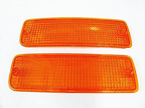(Toyota Pickup Hilux Mk3 4runner Front Bumper Indicator Light Lamp Lens Truck Pickup 89-95 Orange Color Lenses)