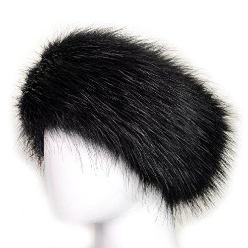 47d394552a2 Futrzane Winter Faux Fur Headband for Women and Girls
