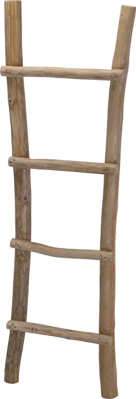 150cm Natural Handmade Wooden Teak Bathroom Towel Rack Linen Rail Holder Ladder Unknown