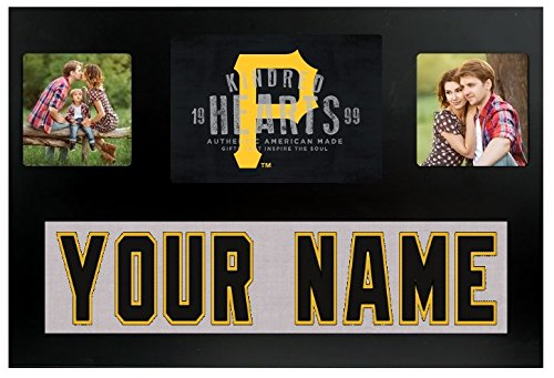 (Pittsburgh Pirates MLB Custom Jersey Nameplate and Logo Picture Frame)
