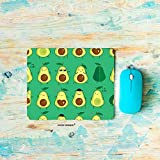 HGOD DESIGNS Gaming Mouse Pad Avocados,Different Cute Green Avocados Emoji Pattern Mousepad Rectangle Non-Slip Rubber Mouse Pads(7.9'X9.5')