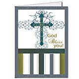 VictoryStore Jumbo Greeting Cards: Giant Confirmation Card (God Bless You), 2' x 3' card with envelope