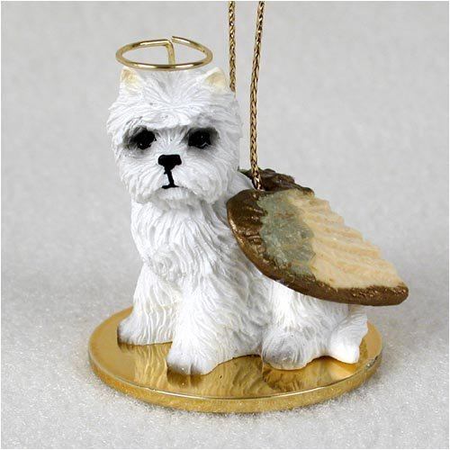 West Highland Terrier Tiny One Angel by Home Miniature West Highland White Terrier
