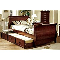 Louis Philippe Jr. Twin Size Dark Cherry Bed Frame