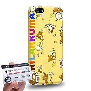 Case88 [Apple iPhone 5C] 3D impresa Carcasa/Funda dura para & Tarjeta de garantía - Rilakkuma Korilakuma Kiiroitori Kaoru Collection 1351