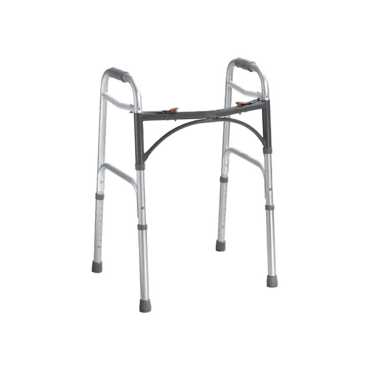 Deluxe Folding Walker - Two Button - Adult - Grey