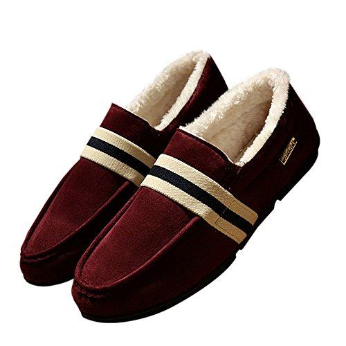 de Libre Aire Cuero Calzado Moda Deylaying Casuales rojo Plano Mocasines Zapatos Al Hombre 2 qIY0nXw