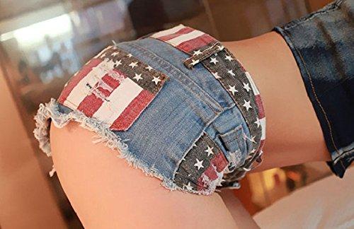 Culater® Mini Shorts Jeans De Cintura Baja