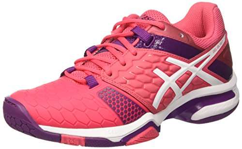 Prune Zapatillas Gel para White Rouge de Asics Mujer Red Multicolor 7 Balonmano Blast q6dxt7
