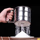 Stainless Steel Mesh Flour Sifter Mechanical Baking Icing Sugar Sieve Powder Is Designed To Make Fluffy Easy Clean, Just Put It In The Water Wash,fast And Convenient