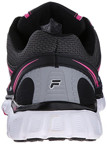 Fila Womens Memory Retribution Running Shoe Black / Dark Shadow / Pink Glow