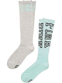 e5854b536 Victoria s Secret PINK Moonlit Jade Seafoam Mint Beige Marl Knee High Socks  - 2 Pairs