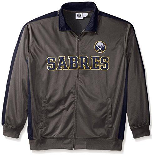 Profile Big & Tall NHL Buffalo Sabres Men's Tricot Track Jacket, 4X, Charcoal ()