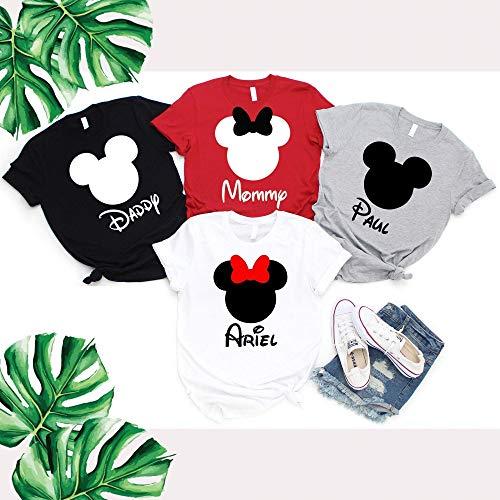 Minnie Mouse Custom Shirts (Mickey Minnie Mouse Family Matching Shirts, Custom Name Shirts, Newborn to 3XL)
