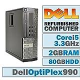 Dell OptiPlex 990 SFF/Core i5-2500 Quad @ 3.30 GHz/DVI Graphics Card/2GB DDR3/80GB HDD/DVD-RW/No OS