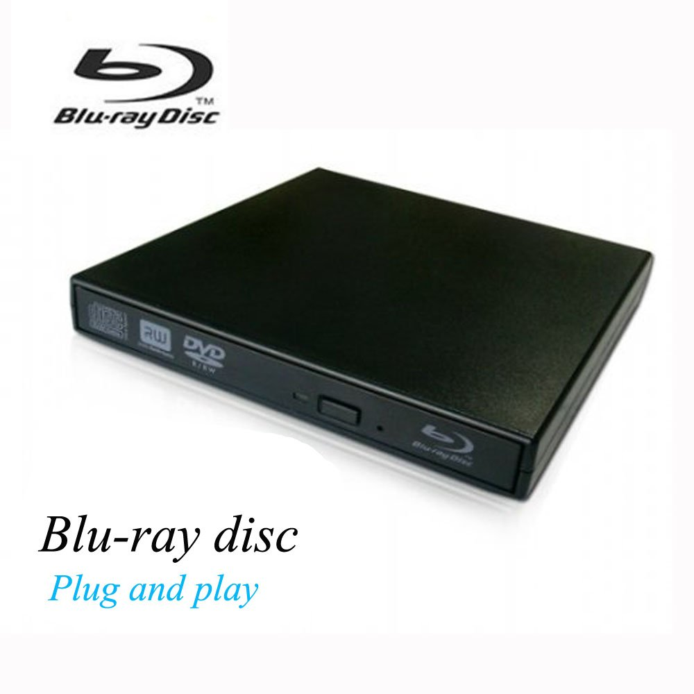 VikTck External Blu Ray DVD Player Drive,USB 2.0 Disc Burner Reader Slim BD CD DVD RW ROM Writer for PC Mac Windows 7 8 10 XP Linxus