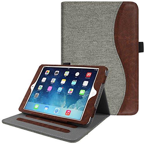 Fintie iPad Mini/Mini 2 / Mini 3 Case [Corner Protection] - [Multi-Angle Viewing] Folio Smart Stand Protective Cover w/Pocket, Auto Sleep/Wake for Apple iPad Mini 1 / Mini 2 / Mini 3, Denim Gray