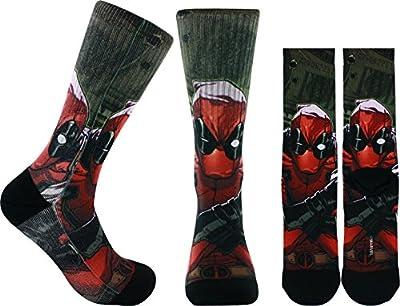 Marvel Deadpool Cash Sublimated Crew Socks