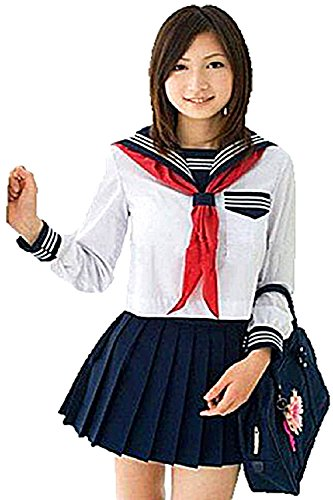 T2C Japanese Sailor Suit School Uniform Girl Students Japan Cosplay Costume