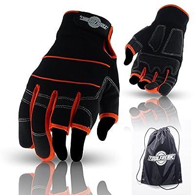 ToolFreak fingerless, 3 finger, full finger gloves for work and sport