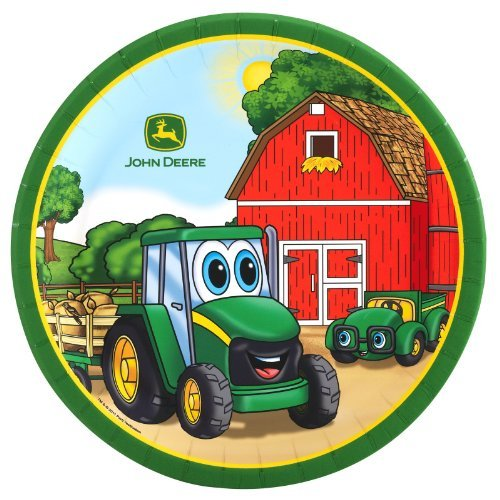Johnny Tractor Dinner Plates (8)