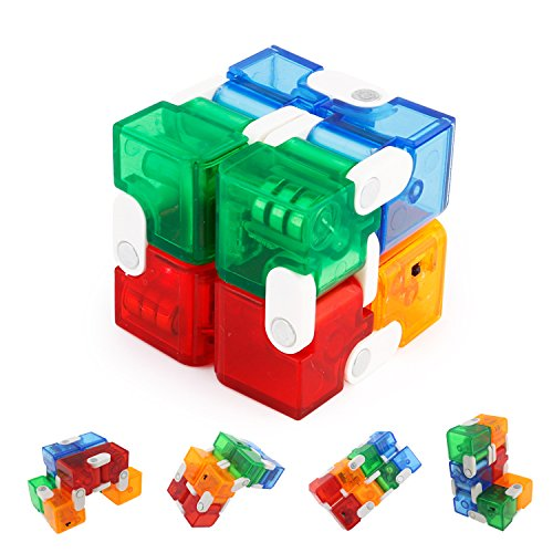 Tipmant Fidget Magic Infinity Rubik's Cube with Led Lights Stress Relief Brain Teasing Puzzle Toys