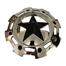 KMC XD Series Rockstar 2 SC-205CHR CAP M-955 S1403-09 Black on Chrome 5 and 6 Lug Center Cap