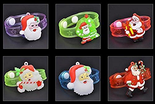 Mammoth Sales LED Light Up Flashing Christmas Party Bracelets Wristbands (2)
