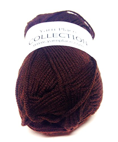 Yarn Place Collection Yarn 50 Grams 136 YDS Wool Cashmere Blend 1 Skein Baby/Pet Accessories Ultra Soft (Dark Chocolate 2528)
