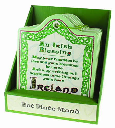 Clover Collection Ceramic Trivet with Irish Blessing - Ireland