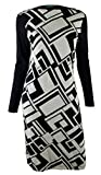Ralph Lauren Women's Long-Sleeve Geo-Print Sweater Dress-BC-M