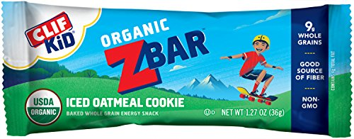 CLIF Kid ZBAR - Organic Energy Bar - (Iced Oatmeal Cookie), 1.27 OZ, Pack of 18