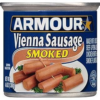 Armour Star Vienna Sausage, Smoked, 4.6 oz. (Pack of 24)