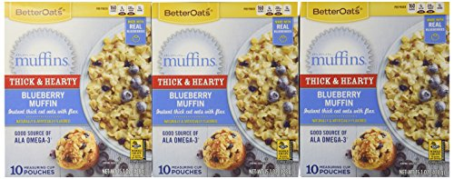 [Better Oats BLUEBERRY MUFFIN Instant Oatmeal 15.1oz (5 Pack)] (Oatmeal Muffin)
