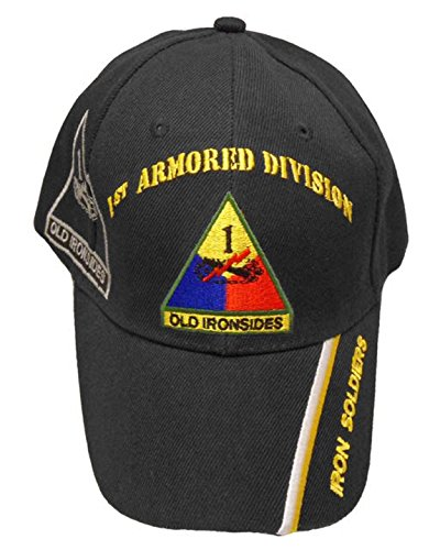 U.S. Army Division and Brigade Baseball Caps Quality Embroidered Hats (1st Armored Division Old Ironsides Soldiers) (101st Airborne Ball Cap)