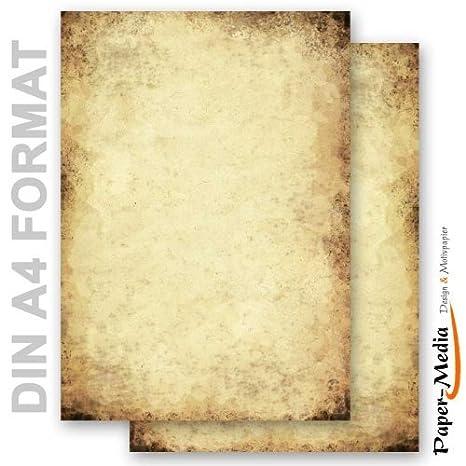 Papel de carta - Hojas estampadas PAPEL VIEJO 50 hojas DIN A4: Amazon.es: Oficina y papelería