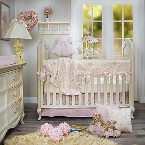Glenna Jean Cottage Collection Rose 4 Piece Set - Glenna Jean Baby Crib