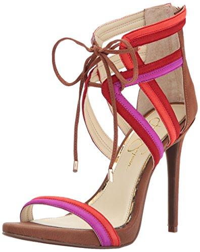 Jessica Simpson Women's Rensa Heeled Sandal, Vivid Orchid, 8.5 Medium (Jessica High Heel Sandals)