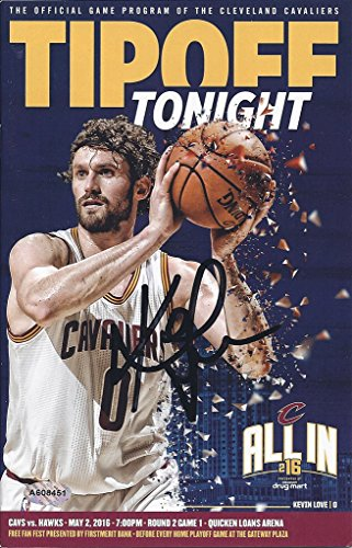 AUTOGRAPHED 2015 Kevin Love #0 Cleveland Cavaliers Basketball TIPOFF TONIGHT GAME PROGRAM (Official Program of the Cavs) 6X9 Inch Rare Collectible Game Guide with COA & Hologram