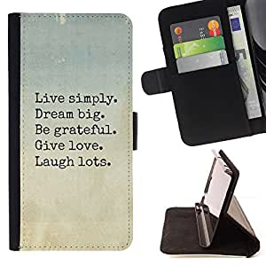 For LG G2 D800 Live Dream Love Laugh Motivational Style PU Leather Case Wallet Flip Stand Flap Closure Cover