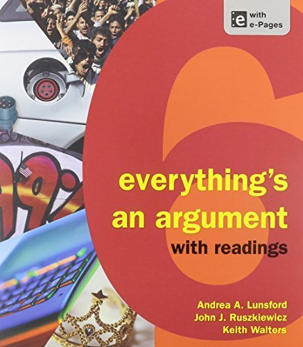 Everything's an Argument with Readings 6e & Pocket Style Manual 6e & ReWriting: Plus (Access Card) 6th edition by Lunsford, Andrea A., Ruszkiewicz, John J., Walters, Keith, H (2013) Paperback