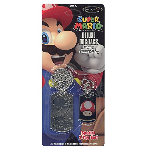 Enterplay - Dog Tag Fun Pack - Super Mario Deluxe 2-Pack -
