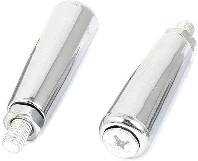 XMHF M8 Female 50mm Diameter Thread Metal Clamping Star Knob Black 3Pcs