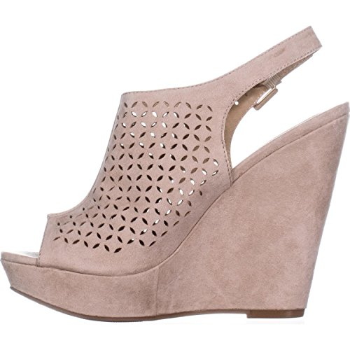 Chinese Laundry Womens Monique Peep Toe Special Occasion Platform Sandals Micro Suede Sand MQg4IrT