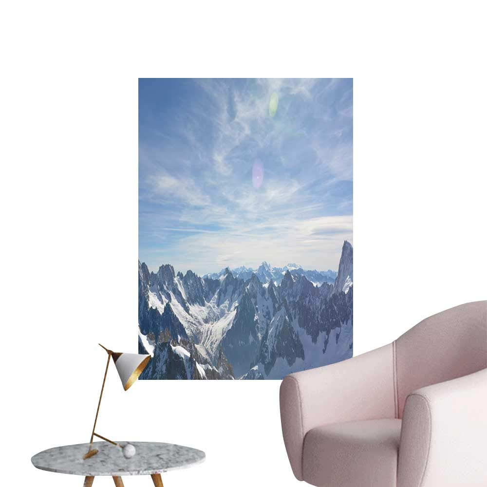 """SeptSonne Wall Decals alps Mountain r ge Environmental Protection Vinyl,32"""" W x 56"""" L"""