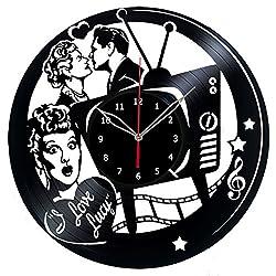I Love Lucy Vinyl Record Wall Clock Fan Art Handmade Decor Unique Decorative Vinyl Clock 12 (30 cm)