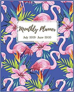 Monthly Planner July 2019 - June 2020: Tropical Flamingo ...