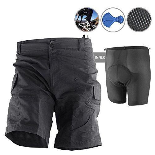 Baggy Bike Bicycle Cycling Knicks Padded Shorts Inner Removable M