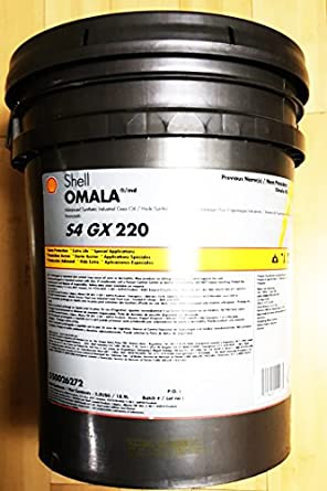 Shell Omala S4 GX 220 5 gal pail Synthetic Gear Oil : Amazon