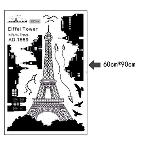 Chranto Lucky 7 ! ! Eiffel Tower Removable Decor Environmentally Mural Wall Stickers Decal (Paris Walnut Sofa)